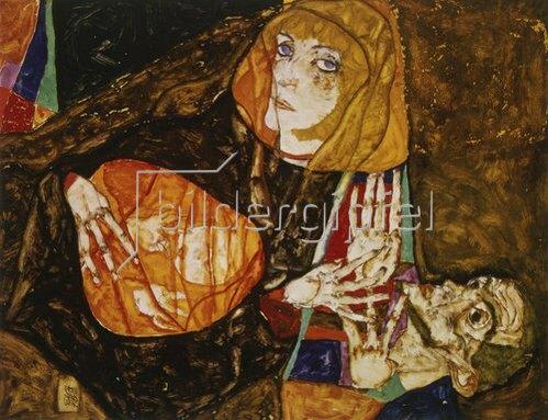 Egon Schiele: Heilige Familie. 1913.