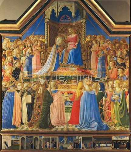 Fra Angelico: Krönung Mariae. Altar aus S. Domenico, Florenz.