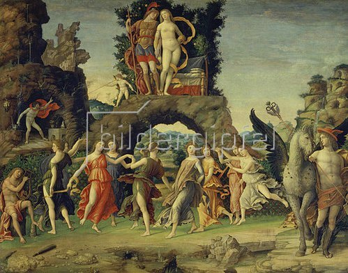 Andrea Mantegna: Der Parnass (Mars und Venus). 1498.