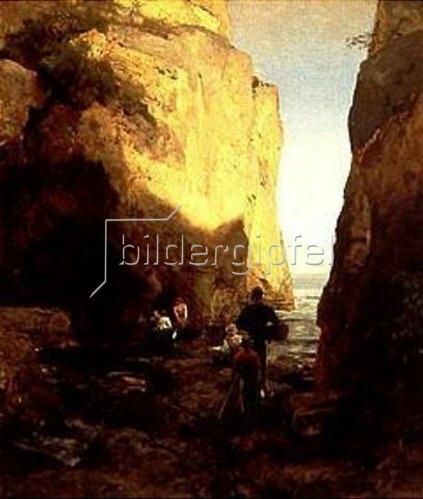 Oswald Achenbach: Einfahrt zur Grotte. 1881.