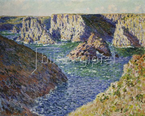 Claude Monet: Die Felsen der Belle Ile. 1886.