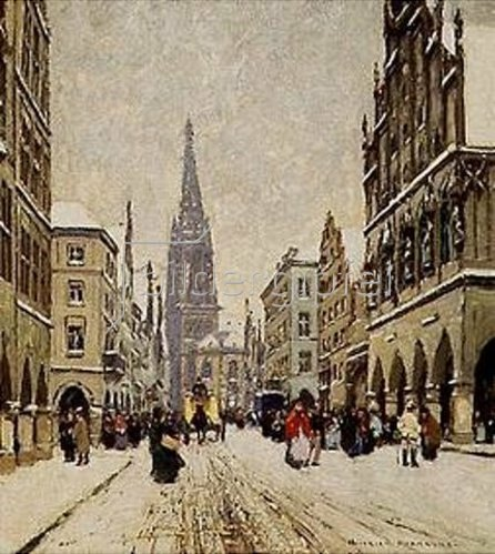 Heinrich Hermanns: Wintertag in Münster.