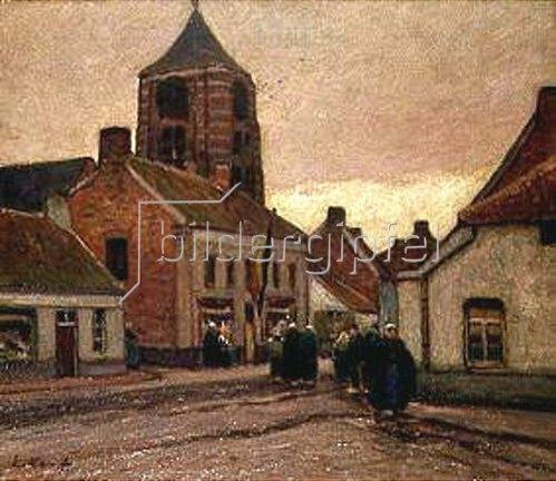 Eugen Kampf: Dorf in Flandern.