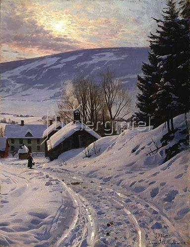 Peder Moensted: Wintersonne bei Lillehammer. 1919.