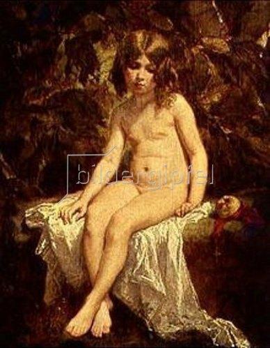 Thomas Couture: Die kleine Badende. 1849.