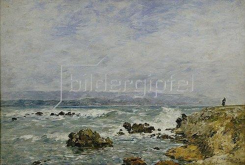 Eugène Boudin: Antibes, Pointe de l'Ilette. 1893.