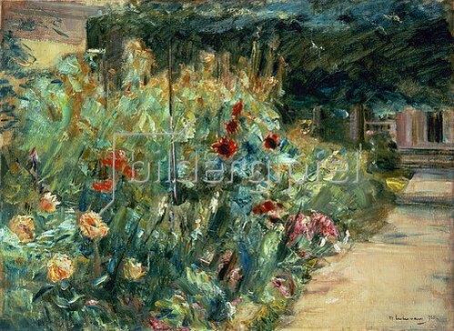 Max Liebermann: Blumenbeet im Garten des Künstlers am Wannsee. 1923.