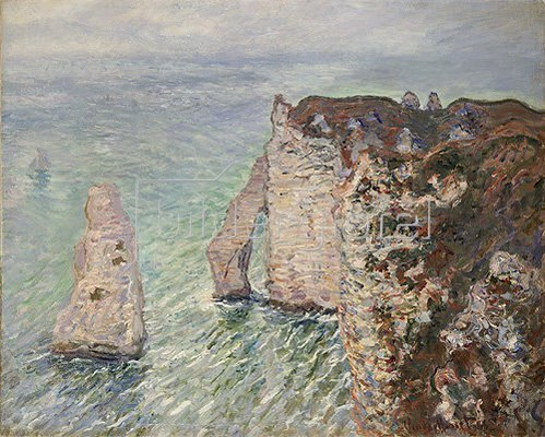 Claude Monet: Aiguille und Porte d'Aval in Etretat. 1886