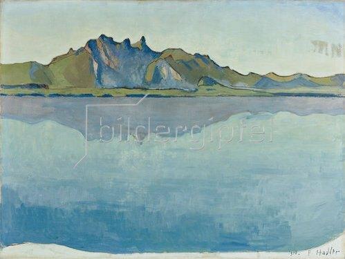 Ferdinand Hodler: Thuner See mit Stockhorn-Kette. 1910