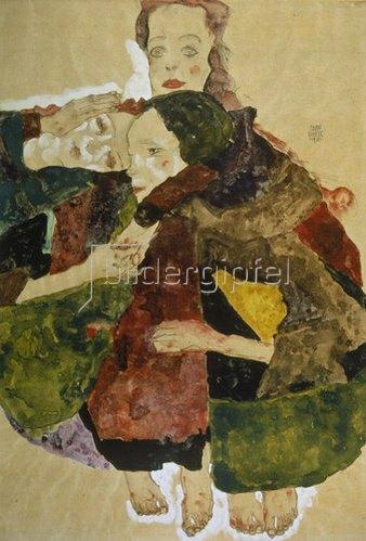 Egon Schiele: Gruppe von drei Mädchen. 1911.