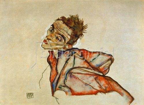 Egon Schiele: Selbstbildnis 1915.