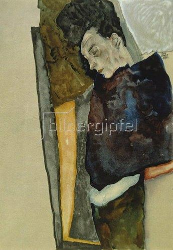 Egon Schiele: Die Mutter des Künstlers, schlafend. 1911