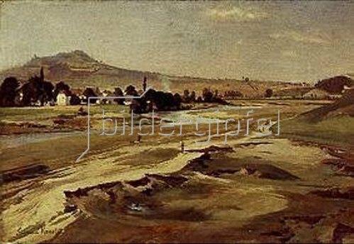 Edmund Friedrich Kanoldt: Landschaft bei Karlsbad. 1877.