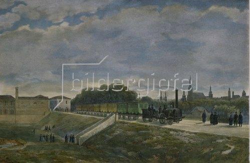 Ignaz Sonntag: Die Eisenbahn in Wien (Nordbahn) 1837.