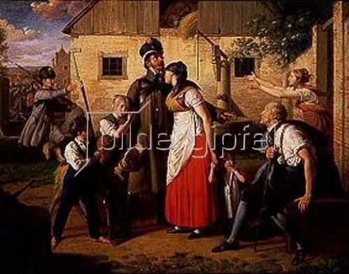 Johann Peter Krafft: Die Rückkehr des Landwehrmannes. 1820.
