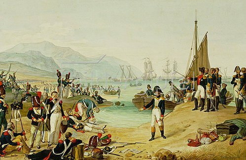 Anonym: Die Landung Napoleon Bonapartes in Antibes. 1815.