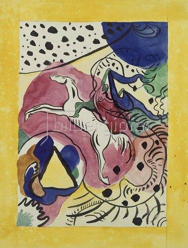 Wassily Kandinsky: Entwurf für den Almanach Der blaue Reiter. 1911