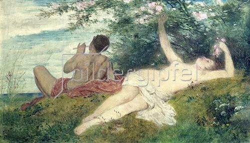 Arnold Böcklin: Der Frühling. 1862.