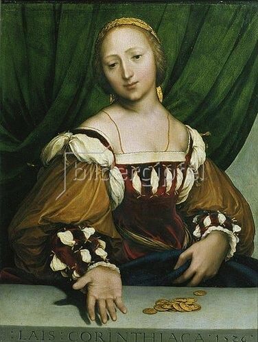 Hans Holbein d.J.: Lais von Korinth.