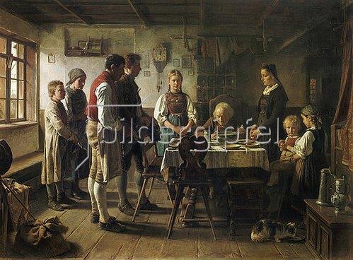 Benjamin Vautier: Das Tischgebet.