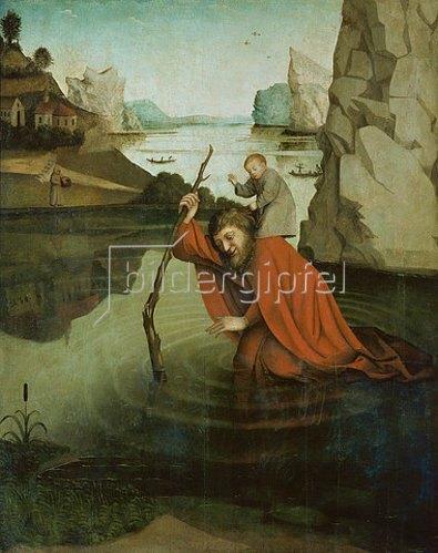 Konrad Witz: Der hl.Christophorus. Gegen 1435.