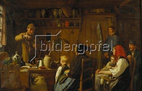Albert Anker: Der Quacksalber. 1879