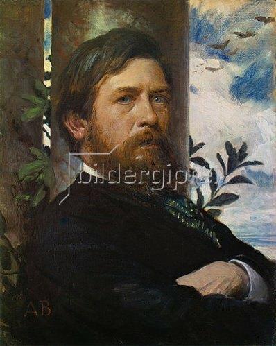 Arnold Böcklin: Selbstbildnis 1875/76.