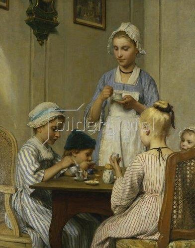 Albert Anker: Das Kinderfrühstück.