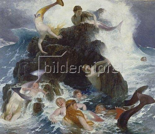 Arnold Böcklin: Spiel der Najaden. 1886