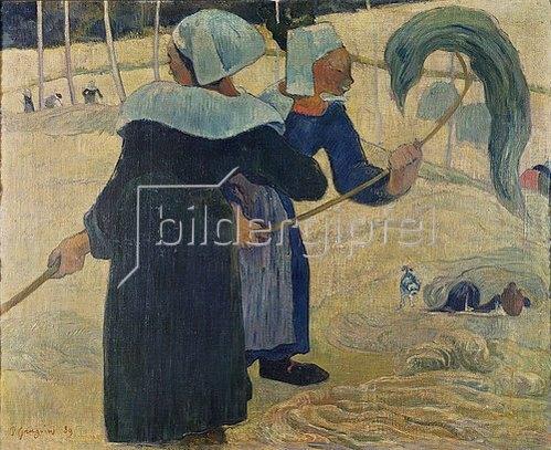 Paul Gauguin: Die Heumacherinnen. 1889