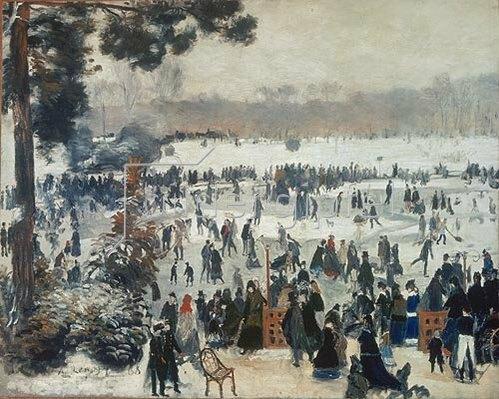 Auguste Renoir: Wintervergnügen im Bois de Boulogne. 1868.