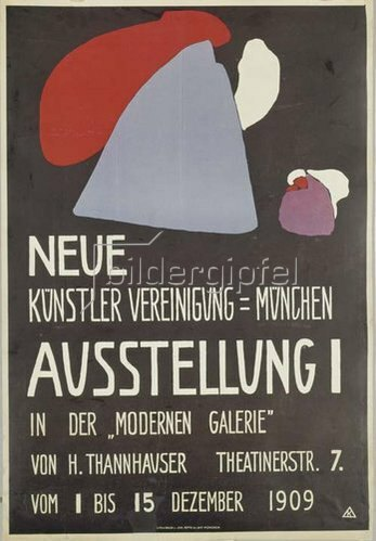 Wassily Kandinsky: Plakat Neue Künstlervereinigung München. 1909