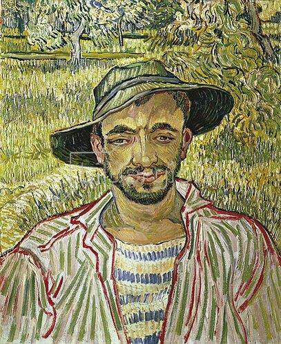 Vincent van Gogh: Bildnis eines jungen Bauern. 1889.
