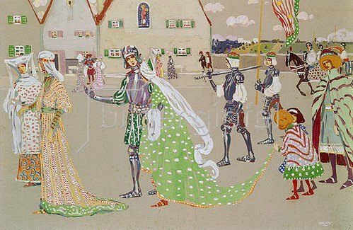 Wassily Kandinsky: Der Brautzug. Um 1902/1903