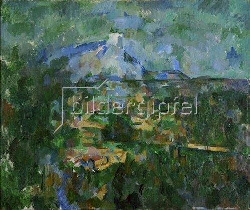 Paul Cézanne: Der Mont Sainte-Victoire von Les Lauves aus gesehen. 1904/06
