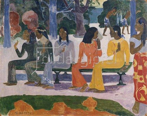 Paul Gauguin: Ta Matete (Der Markt). 1892.