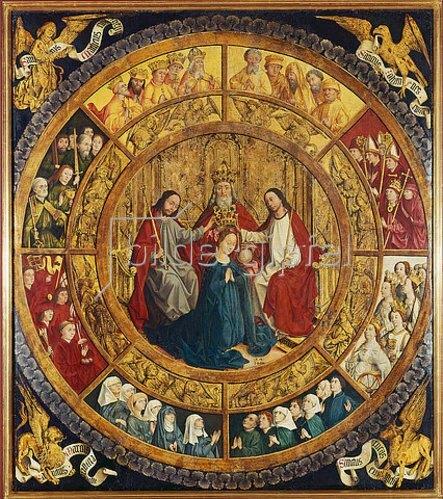 Französisch: Die Krönung Mariae durch die heilige Dreifaltigkeit.