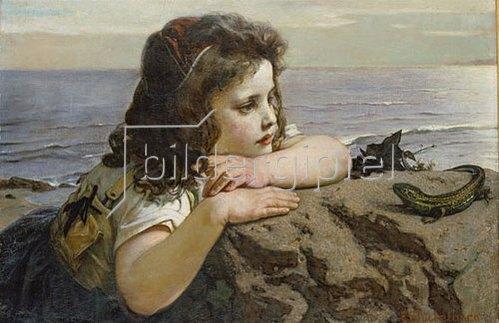 Ernst Stückelberg: Das Mädchen mit der Eidechse. 1884