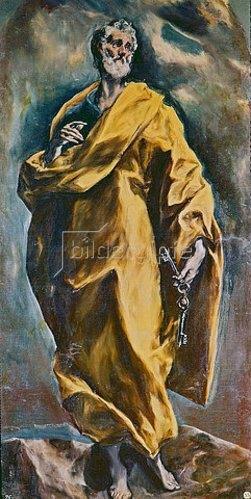 Greco El (Dominikos Theotokopoulos): Der Hl. Petrus mit den Schlüsseln des Himmels.