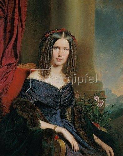 Franz Eybl: Damenbildnis. 1849.