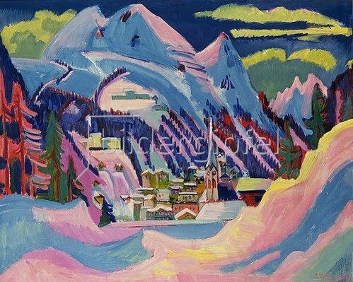 Ernst Ludwig Kirchner: Davos im Winter. 1923