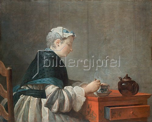 Jean-Baptiste Siméon Chardin: Dame beim Tee trinken. 1735
