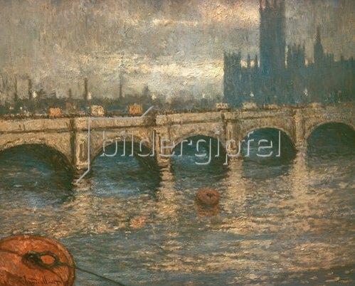 Claude Monet: Themsebrücke und Parlamentsgebäude in London. 1900/04