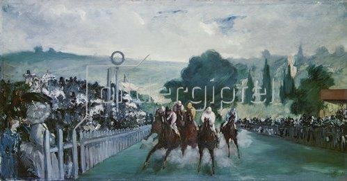Edouard Manet: Pferderennen in Longchamps. 1864