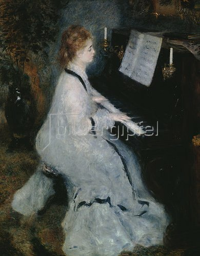 Auguste Renoir: Junge Dame am Piano.