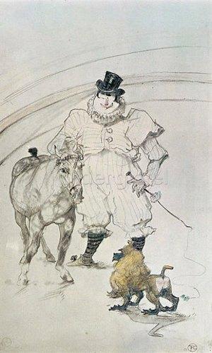 Henri de Toulouse-Lautrec: Im Zirkus: Clown, Pferd und Affe. 1899