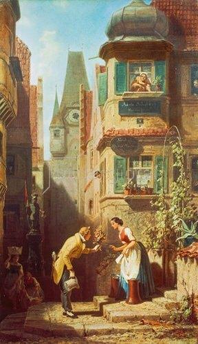 Carl Spitzweg: Der ewige Hochzeiter. Um 1855/58