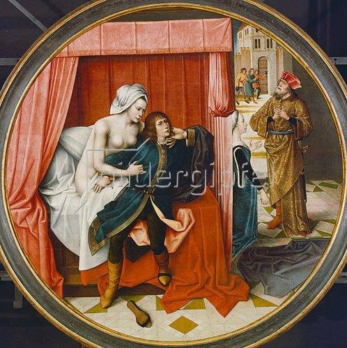 Meister der Josephslegende: Joseph und das Weib des Potiphar.