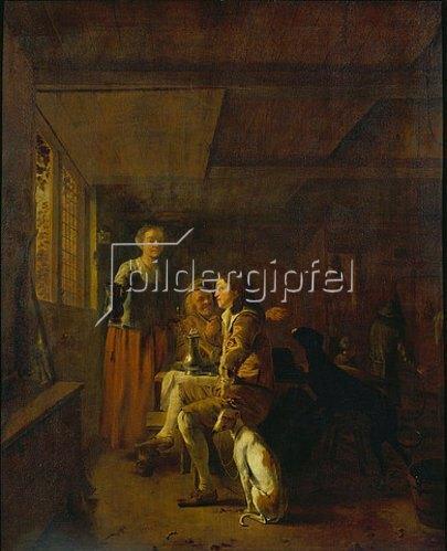 Ludolf de Jonge: Jäger im Wirtshaus.
