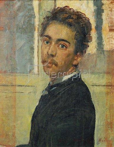 Ferdinand Hodler: Selbstbildnis, Madrid 1878.